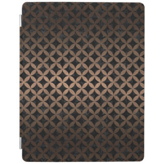 CIRCLES3 BLACK MARBLE & BRONZE METAL iPad COVER