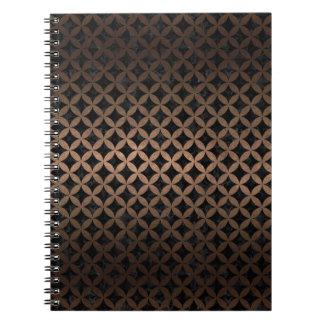 CIRCLES3 BLACK MARBLE & BRONZE METAL NOTEBOOK