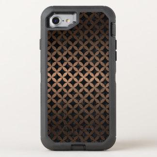 CIRCLES3 BLACK MARBLE & BRONZE METAL OtterBox DEFENDER iPhone 8/7 CASE