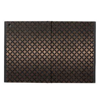CIRCLES3 BLACK MARBLE & BRONZE METAL (R) COVER FOR iPad AIR