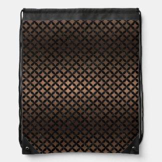 CIRCLES3 BLACK MARBLE & BRONZE METAL (R) DRAWSTRING BAG