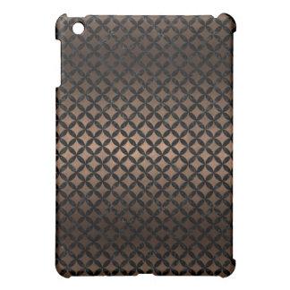 CIRCLES3 BLACK MARBLE & BRONZE METAL (R) iPad MINI COVERS