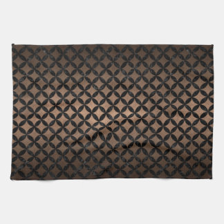 CIRCLES3 BLACK MARBLE & BRONZE METAL (R) KITCHEN TOWEL
