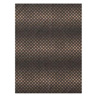 CIRCLES3 BLACK MARBLE & BRONZE METAL (R) TABLECLOTH