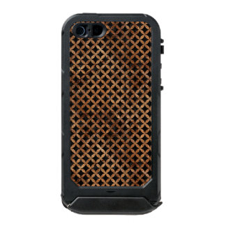 CIRCLES3 BLACK MARBLE & BROWN STONE INCIPIO ATLAS ID™ iPhone 5 CASE