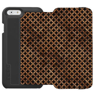 CIRCLES3 BLACK MARBLE & BROWN STONE INCIPIO WATSON™ iPhone 6 WALLET CASE