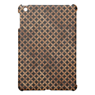 CIRCLES3 BLACK MARBLE & BROWN STONE iPad MINI COVERS