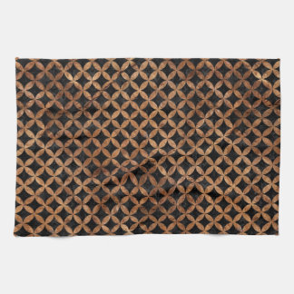 CIRCLES3 BLACK MARBLE & BROWN STONE KITCHEN TOWEL