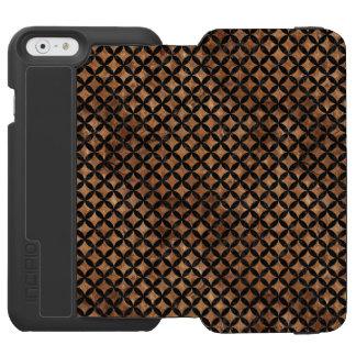 CIRCLES3 BLACK MARBLE & BROWN STONE (R) INCIPIO WATSON™ iPhone 6 WALLET CASE