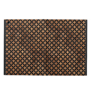 CIRCLES3 BLACK MARBLE & BROWN STONE (R) iPad AIR COVER