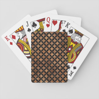 CIRCLES3 BLACK MARBLE & BROWN STONE (R) PLAYING CARDS