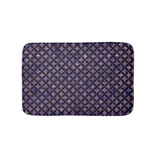 CIRCLES3 BLACK MARBLE & PURPLE MARBLE (R) BATH MAT