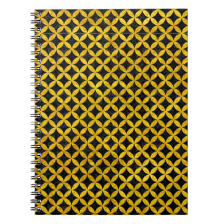 CIRCLES3 BLACK MARBLE & YELLOW MARBLE NOTEBOOK