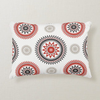 CIRCLES Accent Pillow, pattern on white background Decorative Pillow