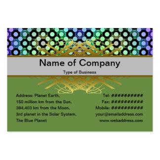 Circles Alternate Large Business Card