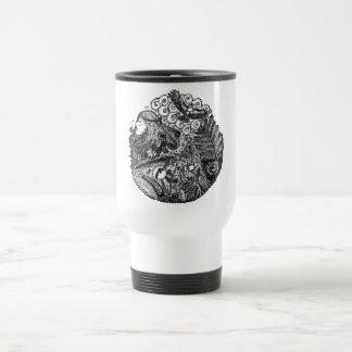 circles and nature travel mug