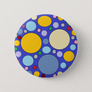 circles and polka dots 2 inch round button