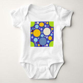 circles and polka dots baby bodysuit