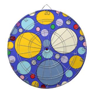 circles and polka dots dartboard