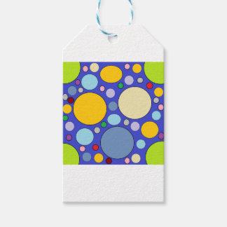 circles and polka dots gift tags