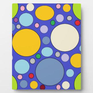 circles and polka dots plaque