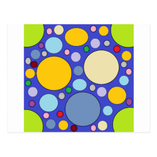 circles and polka dots postcard