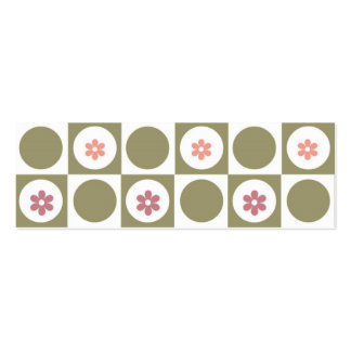 Circles and Squares Double-Sided Mini Business Cards (Pack Of 20)
