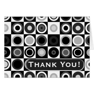 Circles and Squares Thank You Note (Personalized) Card