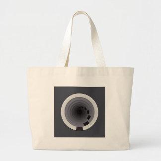 Circles Around Circles Large Tote Bag