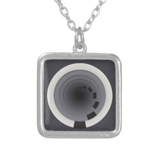 Circles Around Circles Silver Plated Necklace
