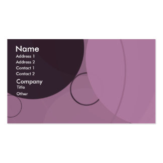 Circles Background Business Card
