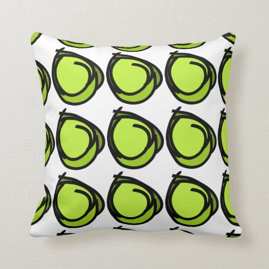 Circles black greens - circles design pattern cush throw pillow