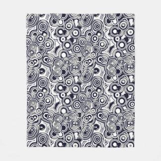 Circles (Blue/Gray) Fleece Blanket