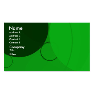 Circles Bright Green Background Business Card