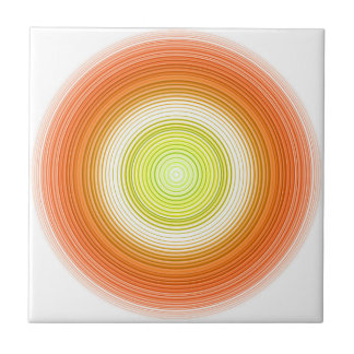 Circles - citrus colors tile