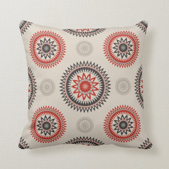 "CIRCLES Cotton Throw Pillow 16"" x 16"""