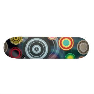 Circles Design Skate Board Deck