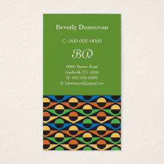 Circles & Geometric Business Card