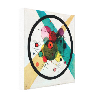 Circles in a Circle by Wassily Kandinsky Canvas Print
