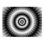 Circles in Black and White Postcard