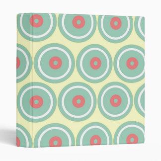 Circles in Circles Vinyl Binder