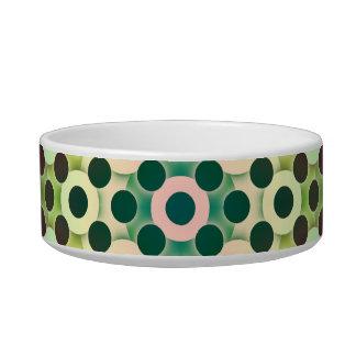 Circles Inverted Alternate Cat Food Bowls
