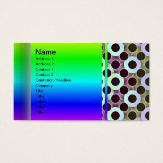 Circles Inverted Business Card