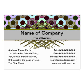 Circles Inverted Large Business Card