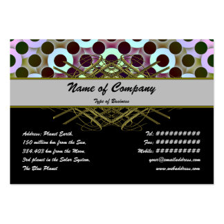 Circles Inverted Pack Of Chubby Business Cards