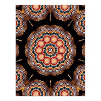 Circles Kaleidoscope Postcard