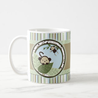 Circles,Leaves,Stripes and Monkeys Baby Mug