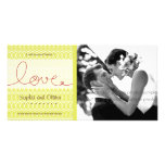 Circles + Love Tea Wedding Thank You Photo Card