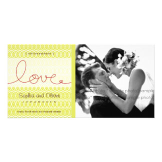 Circles Mod Love Tea Wedding Thank You Photo Card Picture Card