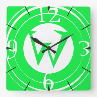Circles Monogram Clock